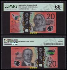 Australia 20 Dollars, (2019), Polymer, Lucky number 555 PMG66