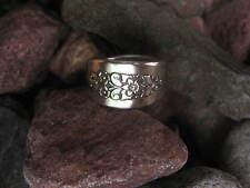 Stately Floral Design Spoon Ring Size 7 R330 Western Skies Silver