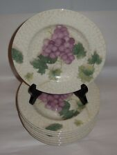 "10 Fairfield GRAPE VALLEY Stoneware 7 7/8"" Salad Dessert Plates"