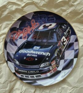 Dale Earnhardt Collectors Plate with bandana!!