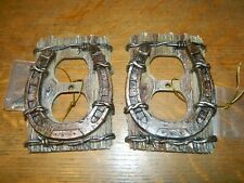 Lot/2 Horseshoe Barb Wire Western Electrical Double Outlet Cover Plates