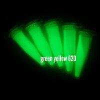 YG620M 50g GRÜN Leuchtpigment f. Lack Farbe Harz fluoreszierende Leuchtfarbe UV