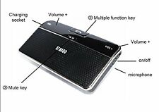 Bluetooth USB Multipoint Speaker for Cell Phone Handsfree Car Kit Speakerphone@