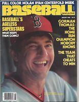 1980 (Aug) Baseball Magazine Carl Yastrzemski Yaz Boston Red Sox, NO Label, EX
