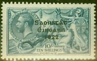 Ireland 1922 10s Dull Grey Blue SG66 Fine Mounted Mint