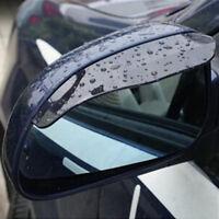 2pcs schwarz Auto Rückspiegel Rain Water Rainproof Augenbraue Cover Hei I1