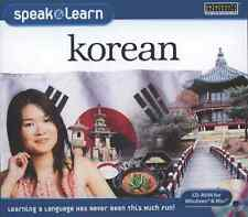 Speak and Learn Korean (CD-ROM for Windows & Mac) **BRAND NEW**