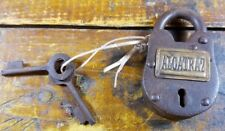 Famous Alcatraz Prison Sturdy Heavy Duty Iron Padlock Log with Brass Tag 2 Keys