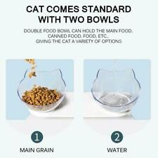 Cat Bowls Double Non-slip With Raised Stand Pet Food Bowl Cat Water Dog W1V9