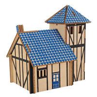 3D Wooden Western Farmhouse Buildings DIY Three-dimensional Jigsaw Puzzle Toys