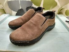 Eddie Bauer Mens shoes Newport Suede Leather Slip On size 10 outdoors casual