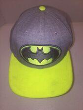 New Era Batman Baseball Cap Hat SnapBack Gray With Neon Green Bib & Logo OSFA