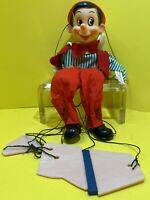 """Vintage Walt Disney Gund 11.5"""" Pinocchio Puppet Marionette"""