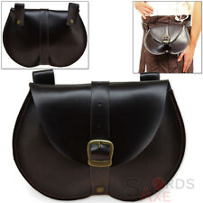 15th Century Bollock Kidney Pouch Pleather Medieval Costume Belt Bag Renaissance