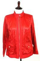 NEW $142 womens red gem LAURA ASHLEY full zip bomber jacket metallic PLUS 2X