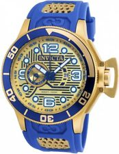 wachawant: Invicta 18834 Corduba 52mm Blue Gold Case Dial Band Swiss Men's Watch