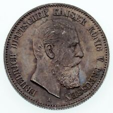 1888 German States Prussia 2 Mark Silver Coin KM #510