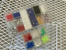 Fly Fishing Tying Lot Craft Beads Divided Cases Assorted Styles Colors Large Lot