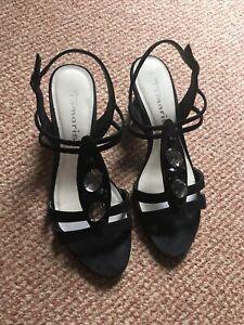Tamaris Black Strappy Sandals Size 7