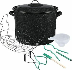 Granite Ware Enamel-on-steel 11 pc. Canner Kit, Includes 21.5 qt. Water Bath Can