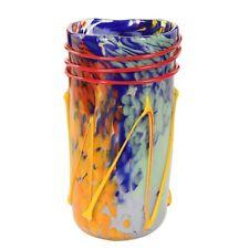Vase Glas über Murano Geschenkidee Mehrfarbig Kelche Wein Furnace Jalousie