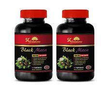 brain supporter gains boost  BLACK MACA - energy boost vitamins for men 2 BOTTLE
