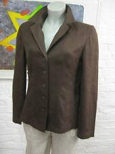 BETTY BARCLAY schicke Jacke Bluse Gr.36, Braun, 100% Leinen, mit Schnurung