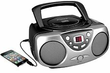 Sylvania Portable Stereo Boombox Cd Player Am/Fm Radio Aux-In Led Display Ac/Dc