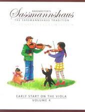 Sassmannshaus: Early Start on the Viola Volume 4 BA9689