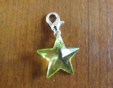 charms argentée étoile verte 19x19 mm