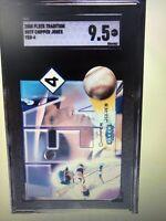 """CHIPPER JONES 2000' FLEER TRADITION """"TEN 4"""" DIE CUT INSERT #8   SGC 9.5 MINT++++"""