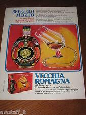 AC24=1968=VECCHIA ROMAGNA ETICHETTA NERA BRANDY=PUBBLICITA'=ADVERTISING=WERBUNG=