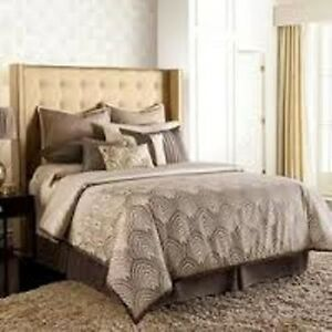 JENNIFER LOPEZ GATSBY CAL KING BED SKIRT DUST RUFFLE BEDROOM NEW BROWN