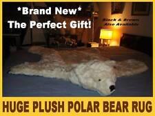 """Furry Big POLAR BEAR RUG skin PLUSH white 52"""" LARGE photography prop KING SIZE"""