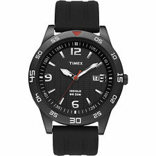 Timex T2N694, Men's Black Resin Sport Strap Watch, Indiglo, Date, T2N6949J