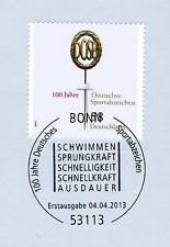 BRD 2013: insignia de deporte 100 años! nr 2999 con sólo bonn etiquetas sello! 1a! 1510