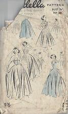 1950s Vintage Sewing Pattern B34 WEDDING DRESS, BRIDESMAID & DAY DRESS (R780)
