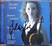 Hilary HAHN Signed BRAHMS STRAVINSKY Violin Concerto MARRINER CD Violinkonzerte