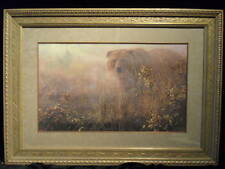 GRIZZLY OUT OF MIST JOHN SEEREY-LESTER SIGNED FRAMED