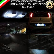 KIT LED INTERNI COMPLETO FIAT PUNTO EVO + LUCI TARGA 9 LED CANBUS NO ERROR