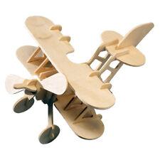 Doppeldecker Typ 1 Holzbausatz Flugzeug Flieger Bi-Plane Holz Steck Puzzle Bauen