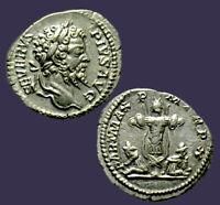 Archaios | Denarius Septimius Severus Parthian Victory Captives & Trophy | 25.5