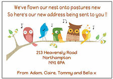 PERSONALISED NEW ADDRESS / NEW HOME / CHANGE OF ADDRESS ANNOUNCEMENT CARDS.. X10