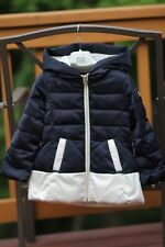 Armani Junior Baby Toddler Girl Winter Down Jacket, Size 2A, Navy Blue
