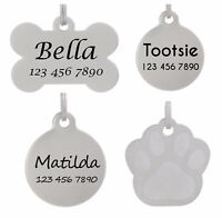 Pet ID Tag Personalized Dog Tag Cat Tag Laser Etched Stainless Steel