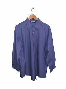 Tommy Hilfiger Shirt Long Sleevr Button Up Blue White Stripes Mens XL