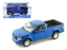 2010 Ford F 150 STX Pick Up Truck Blue 1/27 Scale Diecast Car Model Maisto 31270