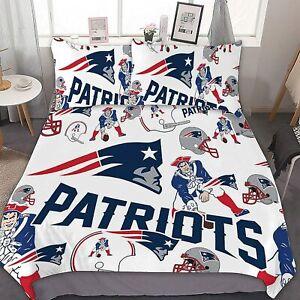 New England Patriots 3PCS Bedding Sets Comforter Cover Pillowcase Duvet Cover