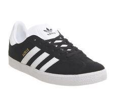 Womens Adidas Gazelle Jnr Trainers Core Black Trainers Shoes