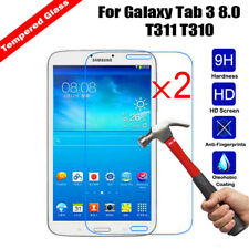 2x Genuine Tempered Glass Screen Protector for Samsung Tab 3 SM-T310 T311 T315